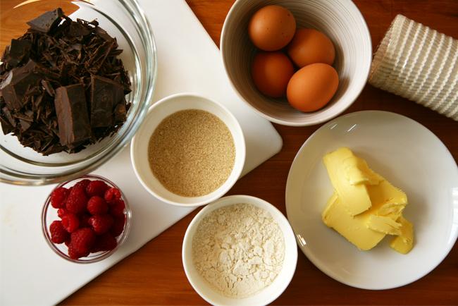 Raspberry Choc Cupcake Ingredients