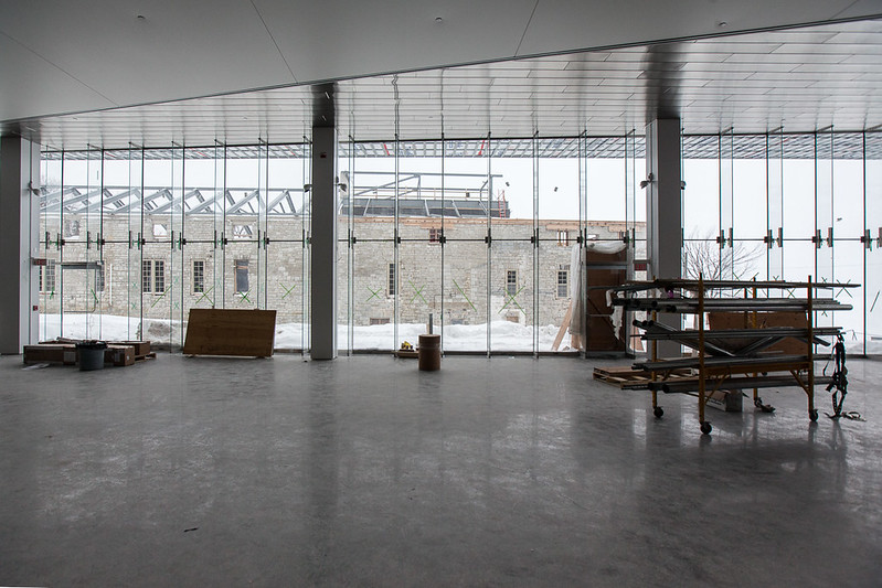 Photos illustrating the construction progress of the IBCPA. February 14, 2014.