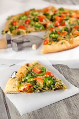Spicy Avocado Pizza