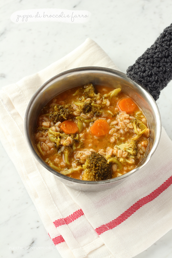 Zuppa di broccoli e farro