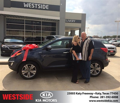 Thank you to Kerry Philbrook on your new 2014 #Kia #Sportage from Orlando Baez and everyone at Westside Kia! by Westside KIA