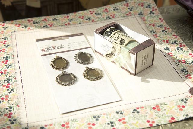 Madame Payraud's craft tape and metal charms