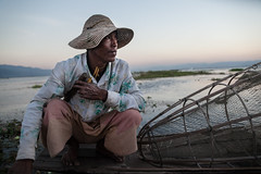 Myanmar (Burma) - Portrait of the fisherman of Inle Lake