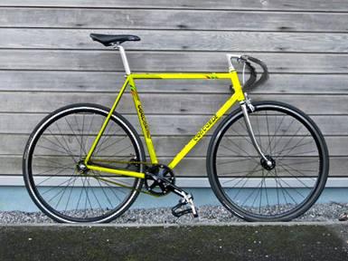Retrouvé - Fixie Concorde jaune banane