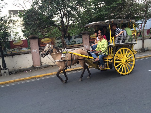 Kalesa horse drawn carriage