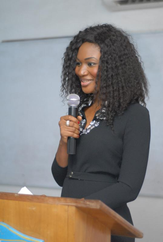 Lawyer Sandra Ankobiah lectures at Ghana Institute of Journalism