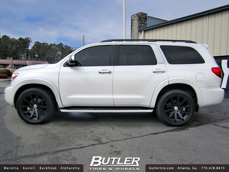 Toyota Sequoia With 22in Black Rhino Traverse Wheels A