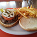 Wally's Restaurant - the burger and fries