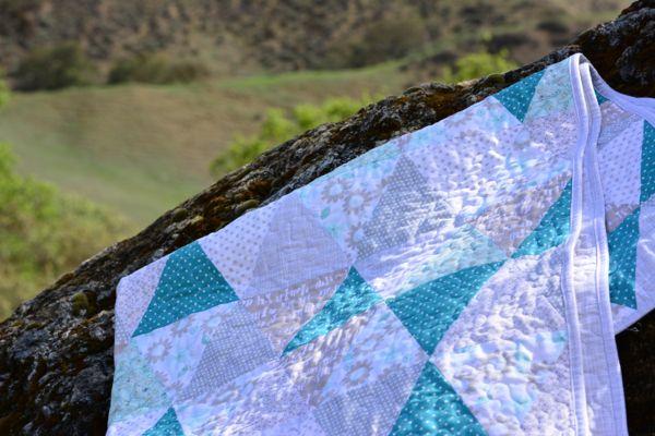 Blu Triangle Quilt