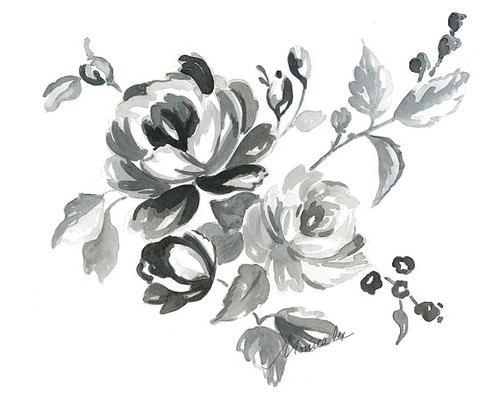 watercolor-print-gray-cabbage-roses