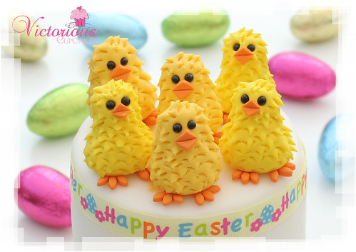 Easter Chick Cake Topper