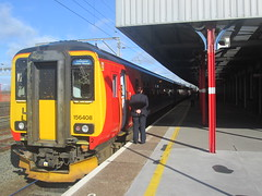 At Stockport with 158856 en route to Liverpool Lime st...