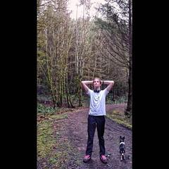 Nick, taking a break. Seen while trail running. #kid…