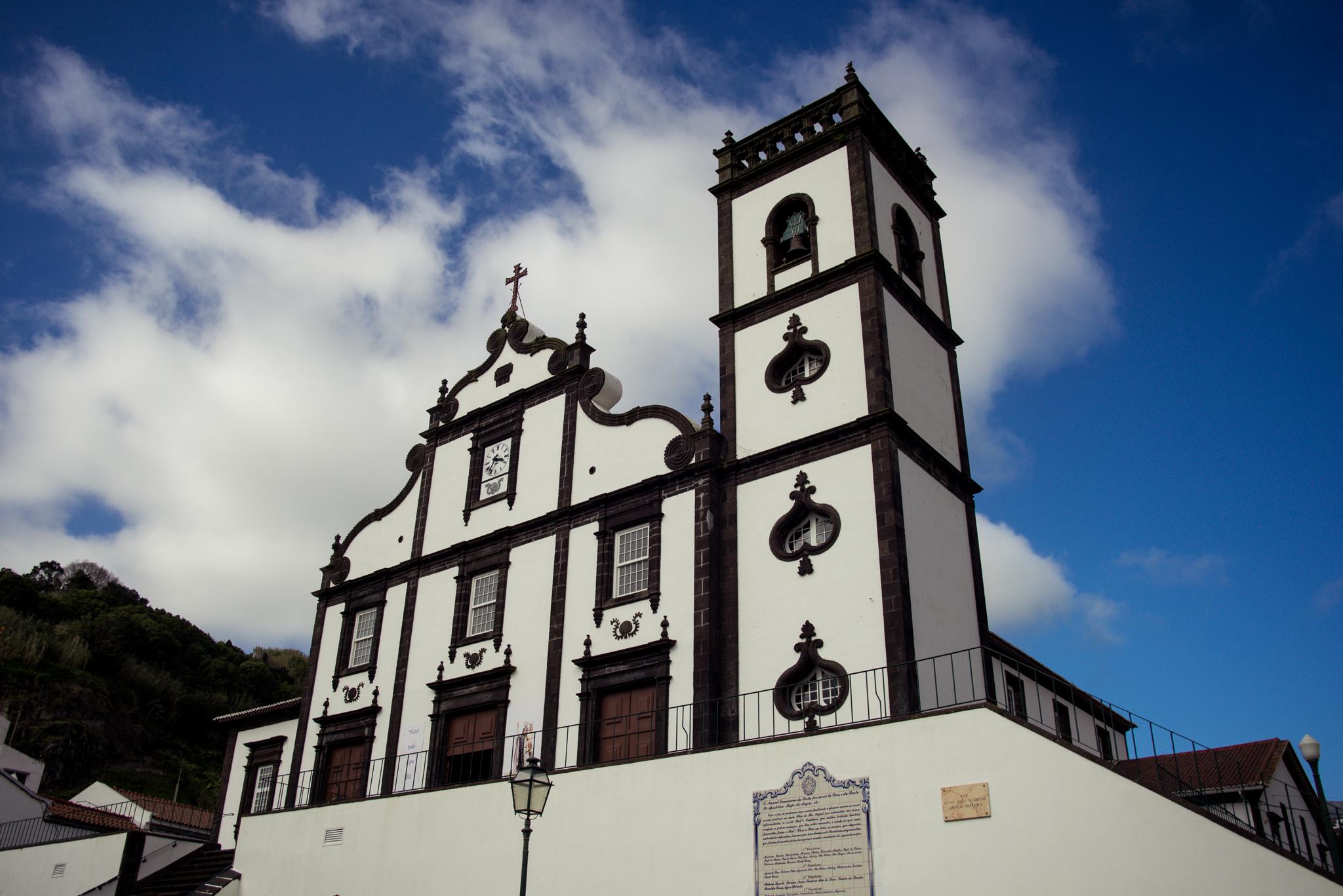 Povoacao tipikus azori stílusú temploma