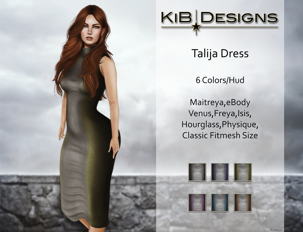 KiB Designs - Talija Dress for DS - SecondLifeHub.com