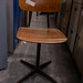 Metal and wood chair E35 26 in stock