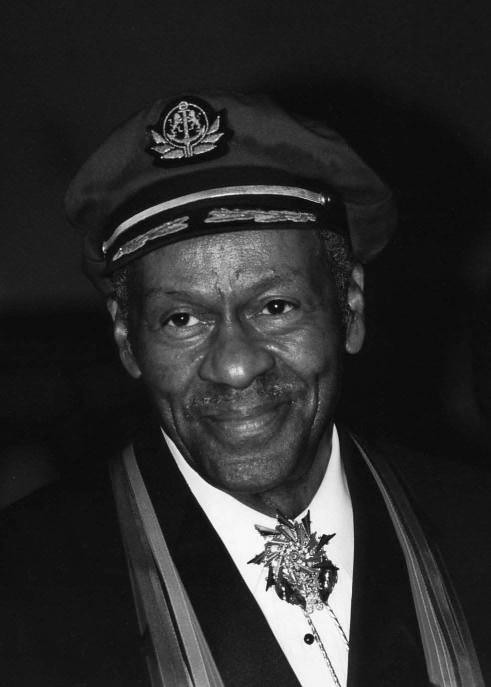 Chuck Berry ...the founding father of rock and roll...copyright John Mathew Smith  2000