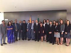 Integrantes das delegações do Brasil e da Índia que participaram da elaboração do acordo de previdência entre os dois países. Foto ASCOM Previdência 16.mar.2017