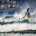 Surf ski at Gwithian. by shakey hans