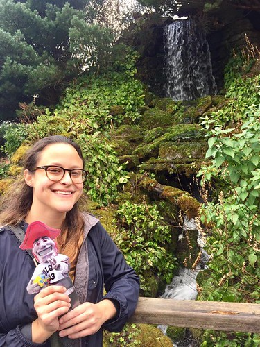 Emily Shlafmitz '18 majoring in English participating on spring 17 London English study group at Royal Botanic Garden, Edinburgh