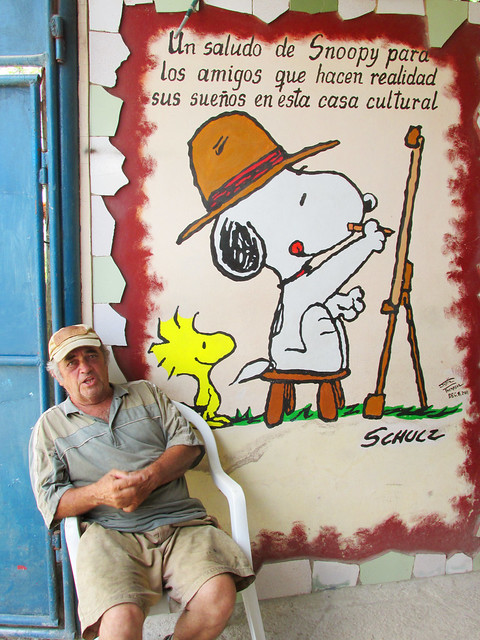 Snoopy Mural in Cuba