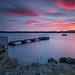 Sunset Reservoir. by Gordie Broon.