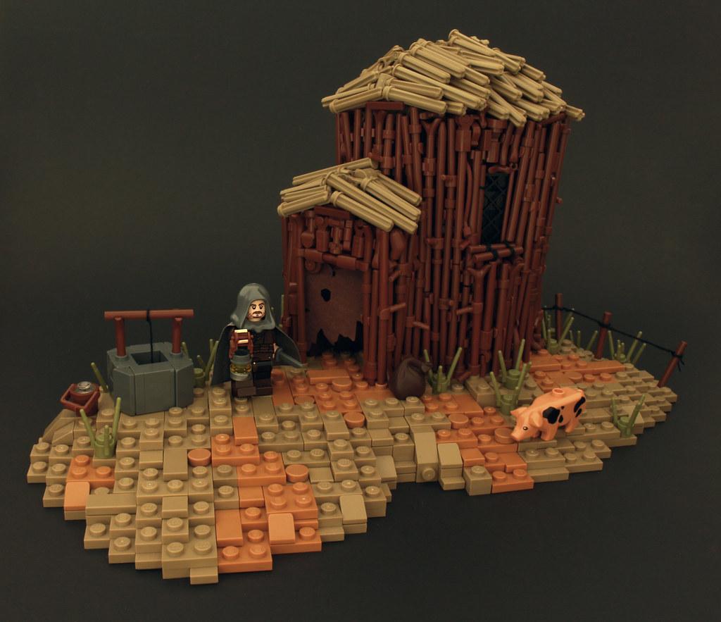 A Weathered Lodging (custom built Lego model)