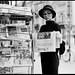 Audrey Hepburn newstand by Radoslaw Pujan