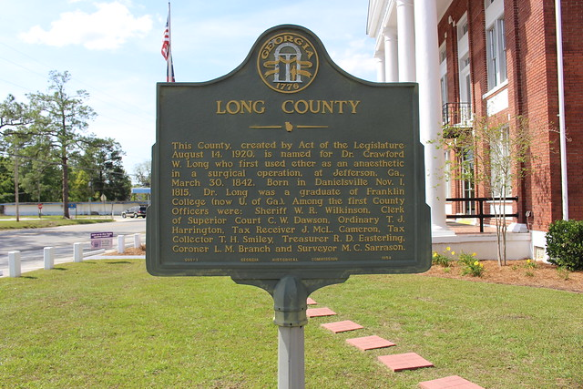 Long County historical marker