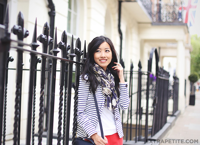 striped blazer red pants2
