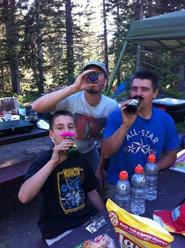 A mustachioed trio