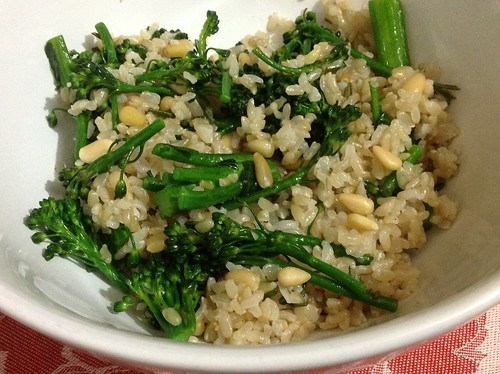 Rosemary Broccolini Over Rice