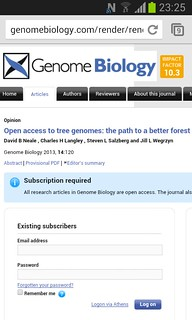 Open Access to tree genomes: the path to a better forest in @GenomeBiology