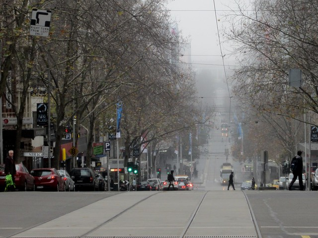 Bourke Street, from Queen Street - looking east