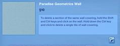 Paradise Geometrics Wall