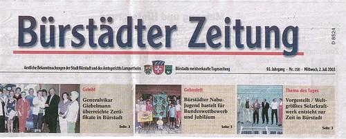 2003 07 02 BZ Titelseite