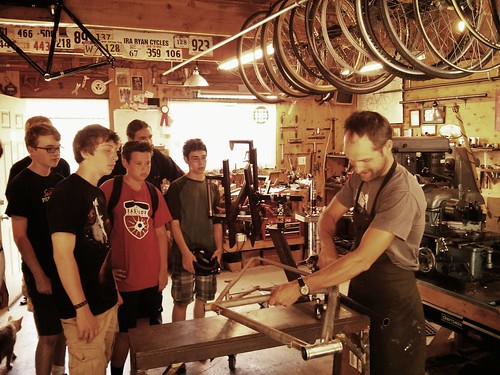 Mechanics Camp visits Ira Ryan