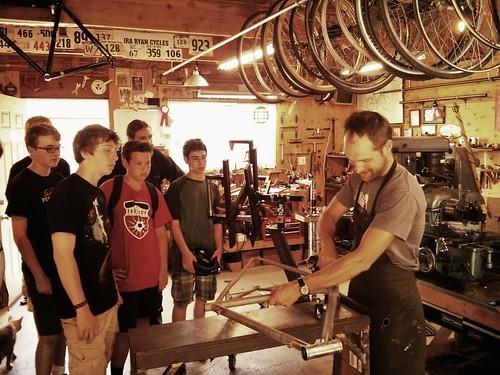 Mechanics Camp visits Ira Ryan
