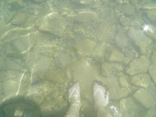 Clear water in Lake Huron