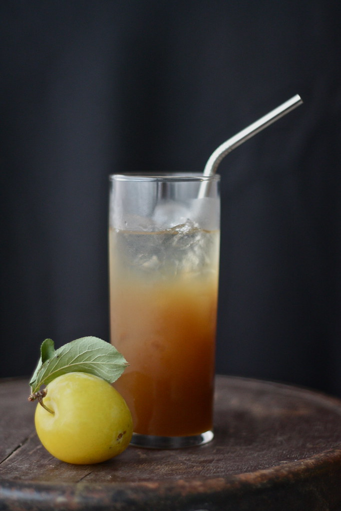 jasmine + golden plum iced tea.