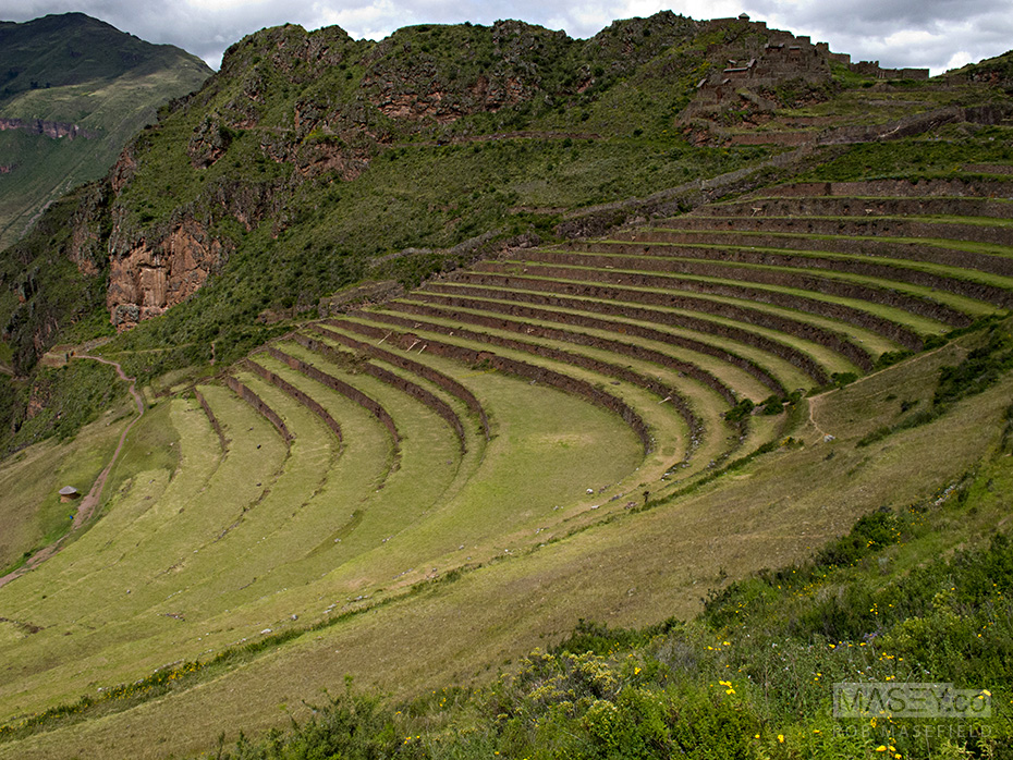 Exploring the terraced ruins above the village of Pisac.