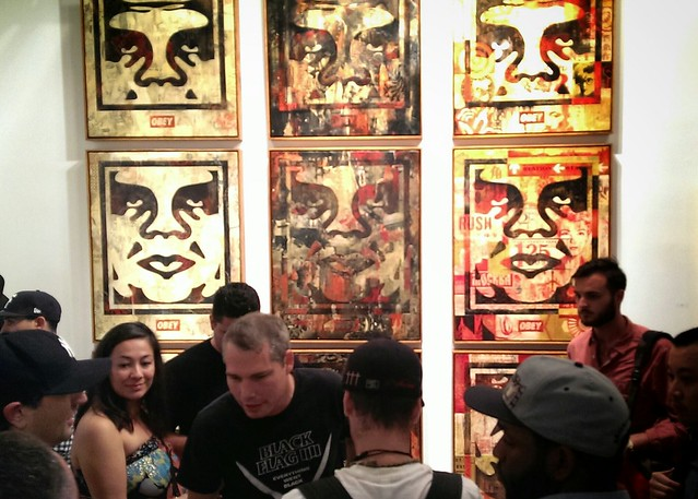 Shepard Fairey in Opening Reception for 10 Years of Wooster Collective: 2003-2013