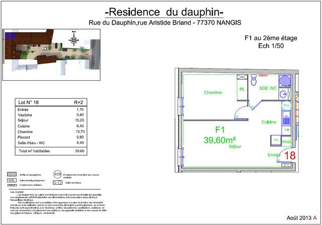 Résidence du Dauphin - Plan de vente - Lot n°18