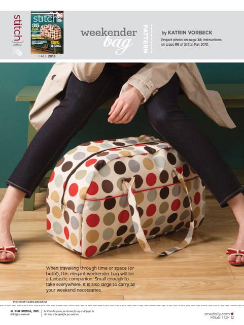 Weekender Bag - meine Tasche im Stitch Magazine! @frauvau.blogspot.de