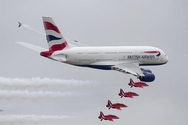 British Airways A380 & RedArrows