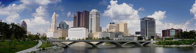 Columbus, Ohio skyline panorama