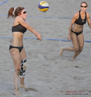 Team Work beach volleyball.
