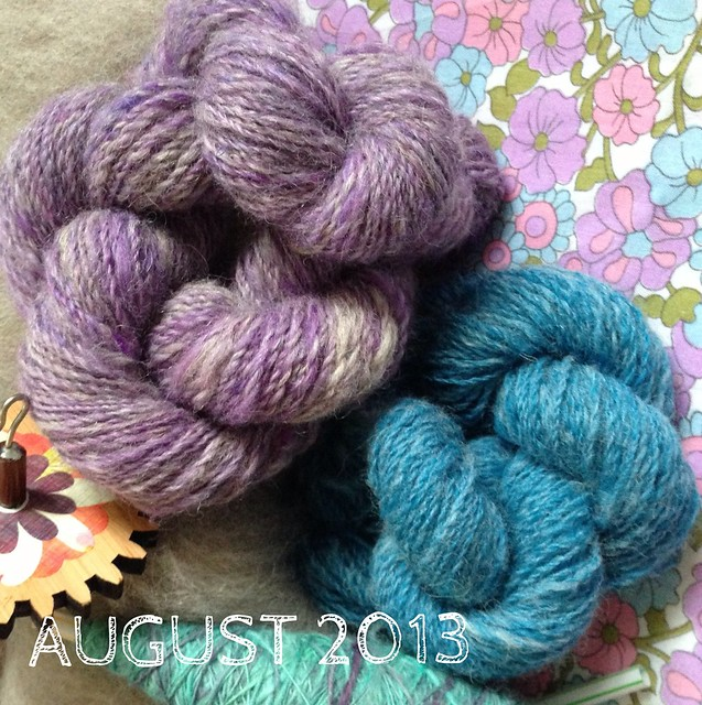 3rd Year of Projects: August's handspun