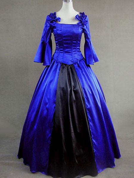 Robe Bleu Royal Fashion Mi Longue Avec D Ef Bf Bdtails Dentelle