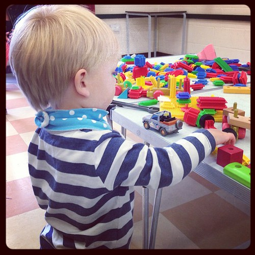 Getting into the groove at toddler group.